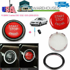 Red Car Engine Start Button Switches Replacement Ring Kit for BMW E Series USA
