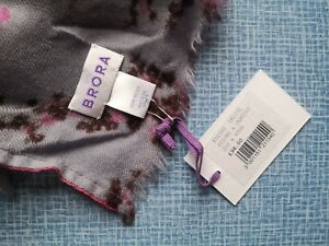 Brora 100% Wool Floral Shawl Scarf New With Tags