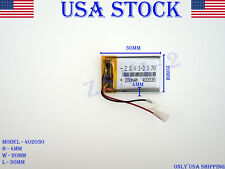 3.7V 200mAh 402030 Lithium Polymer LiPo Rechargeable Battery (USA STOCK)