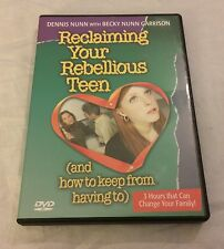 Reclaiming Your Rebellious Teen (And How To Keep From Having To) 3 DVD Set Nunn