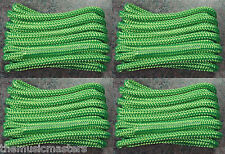 "(4) Green Double Braided 3/8"" x 20' ft Boat Marine HQ Dock Lines Mooring Ropes"