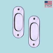 """2 Door Pull Chrome on Solid Brass 5 1/16""""H   Renovator's Supply"""