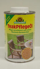 """Neudorff """"TeakPflegeÖl"""" 500 ml, Pflege & Schutz für Gartenmöbel, Teak Pflege Öl"""
