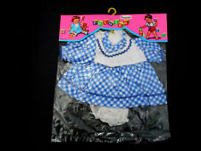 Vintage Premier Doll Clothes Dress & Panties Blue & White Checks New in Package