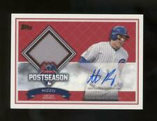 2016 Topps Series 1 Postseason Anthony Rizzo /50 Auto Autograph Game Used Jersey