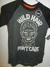 SIZE Small Boys NEW W/Tag Halloween Werewolf T-Shirt Humorous Glow-In-Dark Shirt