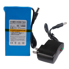 New 6800mAh 12V Li-ion Rechargeable battery Pack +AC Charger for Bike Lamp  W1