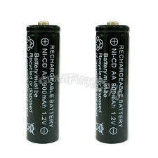 2 x AA 900mAh Ni-Cd NICD Ni-Cad 1.2V rechargeable battery cell/RC Black US Stock