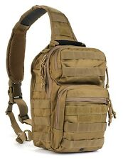 Military Style Tactical Bug Out Sling Go Bag Backpack Hunting Coyote Molle