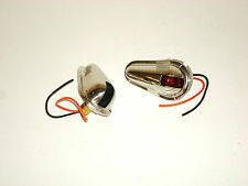 Vertical Mount Side Navigation Lights Polished Stainless Working Condition