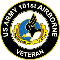 "Army 101st Airborne Division Veteran Unit Crest 5.5"" Sticker 'Officially License"