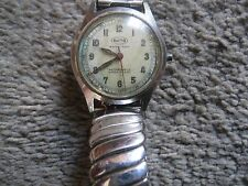 """Vintage Octo Swiss Made waterproof Watch WWII """"Reserved""""  Steel  w/ Azium band"""