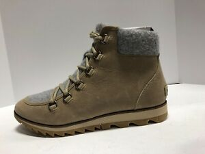 Sorel Harlow Lace Cozy Womens Boot Tan Leather Size 10 M