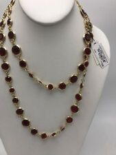 $45 anne Klein red crystal strand necklace A2