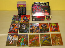 MARVEL MASTERPIECES Series 2 - Complete 90 Card BASE Set + 5 INSERT CARDS - 1993