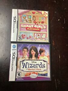 Authentic Nintendo DS Smart Girls Playhouse & Wizards Of Waverly Place Games