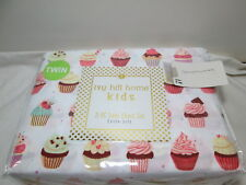 NEW Ivy Hill Home Kids CUPCAKES Twin Sheet Set ~ Multi Colors ~ Extra Soft NIP