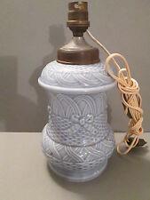 beau pied de lampe ancien en porcelaine emaillée