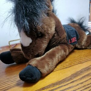 Adventures of Rush Revere Liberty Horse Plush Brown Black Horse 12-15""