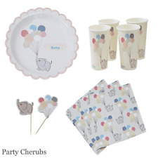 Baby Shower Party Tableware Set - Plates/Cups/Picks/Napkins - 1st Birthday Set