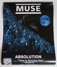 """Matthew Bellamy MUSE Signed Autograph """"Absolution"""" 18x24 Poster by All 3 Members"""