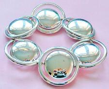 Zara Pulsera De Plata-muy grandes círculos sentado en un anillo-Nuevo