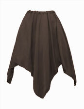 I-D-D Renaissance Peasant Wench Pirate Faire Women 4 Point Over Skirt  Taupe
