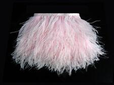 1 Yard - Baby Pink Ostrich Fringe Trim Wholesale Feather (Bulk)