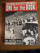1967 SPORTING NEWS ONE FOR THE BOOK ALL-TIME BASEBALL RECORDS
