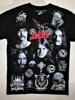 BLACK SABBATH T-Shirt RARE Embroidered Logo Ozzy Osbourne Paranoid Bloody Metal