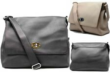 Tom & Eva Men's Women's Shultertaschen Leather Pockets Messenger Bag Shoulder