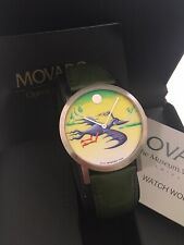 Rare Movado Artistic Series Kenny Scharf Time Flies Watch Box & Papers