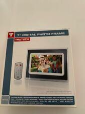 """NEW TruTech 7"""" Digital Photo Frame BLACK 6in × 8.25in. × 1.2in. NEW IN BOX Cheap"""