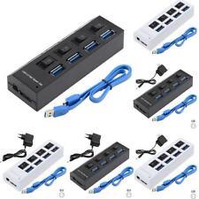 4 Ports Powered USB 3.0 HUB Splitter 5Gbps High Speed External AC Power Adapter