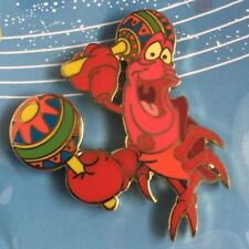 Sebastian the Crab with Maracas Pin from Little Mermaid Limited Edition of 1500