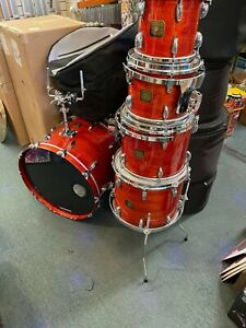 Gretsch USA Custom Stop Sign Badge drum set with 5 bag cases