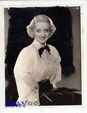 Bette Davis bright smile 1935 VINTAGE Photo