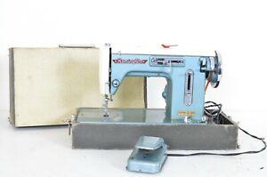 Vintage Remington Zig Zag Sewing Machine Blue Mid Century Nationally Solid Japan