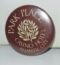 PARK PLACE 80'S PINBACK BUTTON PIN ATLANTIC CITY NJ CASINO RESORT HOTEL LOT/2