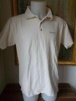 Polo coton beige cotelé MARLBORO CLASSICS MCS XL manches courtes logo