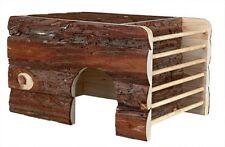 Holzern Ila Haus mit Höhle Heu Krippe & Dach Liegend Oberfläche Meerschweinchen