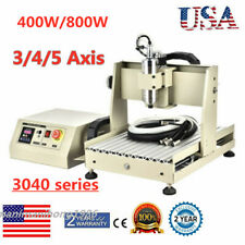Usbparallel 345 Axis Cnc 3040 Router Engraver 3d Mill Drill Machine 400800w