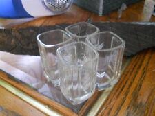 4 AVION Professional Series Liquor SHOT GLASSES Etched Glass Tequila Vodka