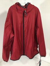 TOMMY HILFIGER MEN'S BREATHABLE WATERPROOF RAIN JACKET RED 2XL NWT $160