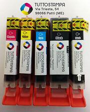 KIT 5 CARTUCCE PIENE PER STAMPANTE ALIMENTARE CANON PG 520 -  CL 521 x serie MP.