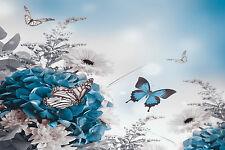 Splendido Astratto Farfalle Fiori #23 foto su tela arredamento casa wall art A1