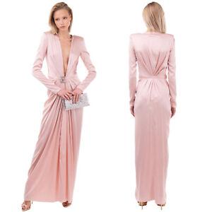 RRP €3515 ALEXANDRE VAUTHIER Silk Satin Evening Dress Size 36 / XS Silk Blend
