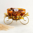 Marigold Solid Multicolour Glass Floating Bowl