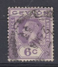 1922 GV CEYLON 6c GOOD USED SG343 MULTI SCRIPT CA