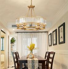 Modern 6-Light Crystal Chandeliers Ceiling Fixtures Home Pendant Lamps Lighting
